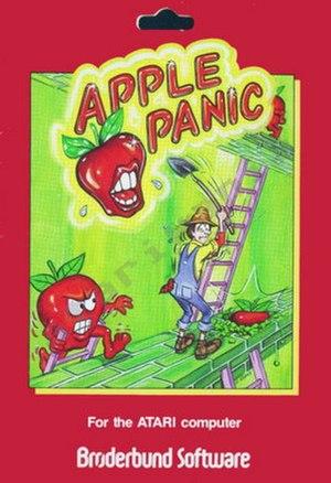 Apple Panic - Atari box cover