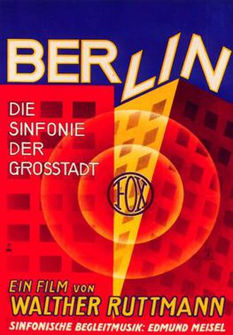 Berlin: Symphony of a Metropolis - Image: Berlin symphony 1 poster