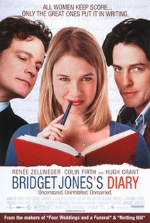 <i>Bridget Joness Diary</i> (film) 2001 English romantic comedy film directed by Sharon Maguire