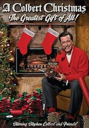 A Colbert Christmas: The Greatest Gift of All! - DVD cover art.