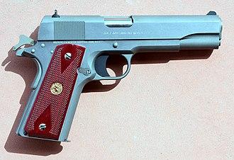 M1911 pistol - Modern Colt M1911 pistol in stainless steel