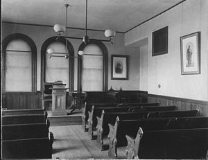 Crane Theological School - Crane Chapel while still in Miner hall, prior to the 1929 addition to the Crane Building