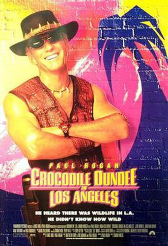 Crocodile Dundee in Los Angeles - Theatrical release poster