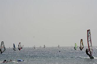 Dahab - Windsurfing in lagoon