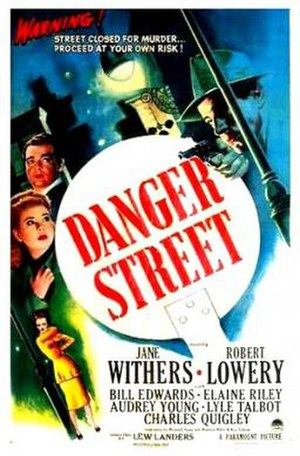 Danger Street - Theatrical release poster