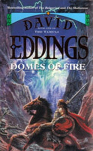 "The Tamuli - The front cover of a 1995 Voyager edition of ""Domes of Fire""."