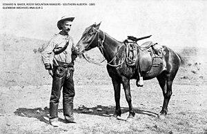 Rocky Mountain Rangers (1885) - Edward N. Baker, Rocky Mountain Rangers – 1885 – Glenbow Archives NA-619-1