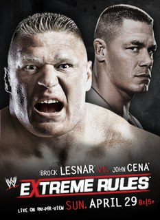 Extreme Rules (2012) 2012 WWE pay-per-view event