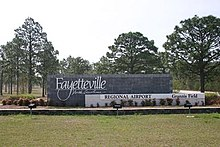 Fayetteville Regional Airport, Joe Pillow Gateway Sign.jpg
