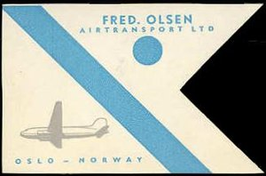 Fred. Olsen Airtransport - Image: Fred Olsen Air Transp