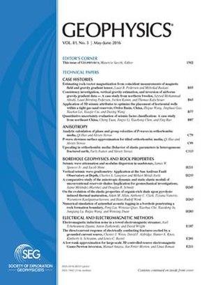Geophysics (journal) - Image: GEOPHYSICS cover
