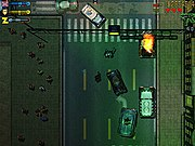 Police pursue the player (center) in the Windows version.