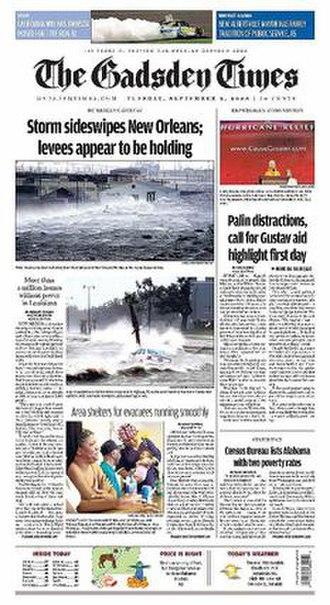 The Gadsden Times - Image: Gadsden Times Front 1