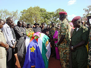 Gordon Muortat Mayen - President Kiir at funeral of Hon. Gordon Muortat