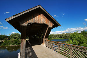 Downtown Guelph - This covered footbridge near the city centre is one of only two in Ontario