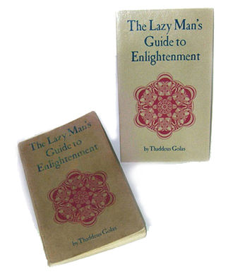 The Lazy Man's Guide to Enlightenment - first and second edition covers (1971, 1972)