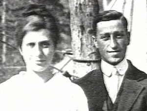 "Aimee Semple McPherson - Aimee Semple and her second husband Harold McPherson.  For a time Harold  traveled with his wife Aimee in the ""Gospel Car""as an itinerant preacher himself; helping her to set up tents for revival meetings."
