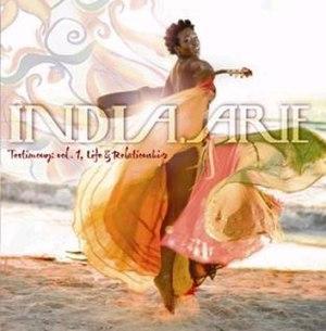 Testimony: Vol. 1, Life & Relationship - Image: India.Arie Testimony UK
