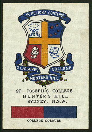 St Joseph's College, Hunters Hill - Image: Joeys HH Cigcard