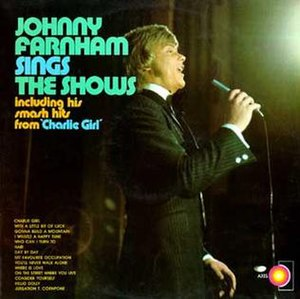 Johnny Farnham Sings the Shows - Image: Johnny Farnham Sings the Shows