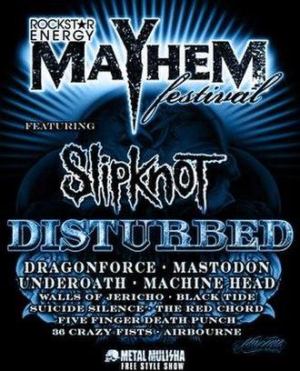 Mayhem Festival 2008 - Promotional poster