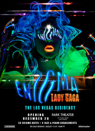 Lady Gaga Enigma - Promotional poster for the show