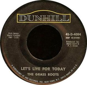 Let's Live for Today (song) - Image: Lets Live For Today Single