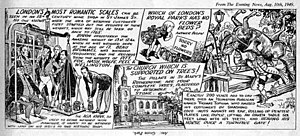 Peter Jackson (artist) - Peter Jackson's London Is Stranger Than Fiction strip which appeared on 10 August 1949