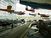 The interior of the Museum of Flight