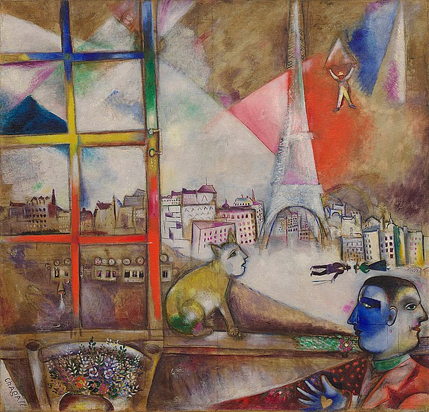File:Marc Chagall, 1913, Paris par la fenêtre (Paris Through the Window), oil on canvas, 136 x 141.9 cm, Solomon R. Guggenheim Museum, New York.jpg