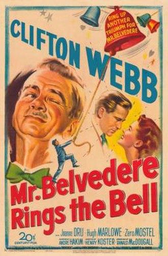 Mr. Belvedere Rings the Bell - Image: Mr. Belvedere Rings the Bell Film Poster