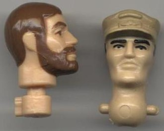 G.I. Joe: A Real American Hero - 1982 neck compared to post-1984 neck