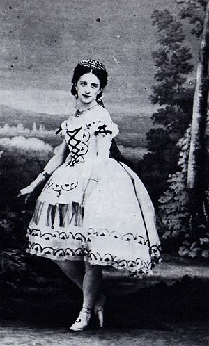 Fiametta - Marfa Muravieva in the Saint-Léon/Minkus Fiametta, Paris, 1864