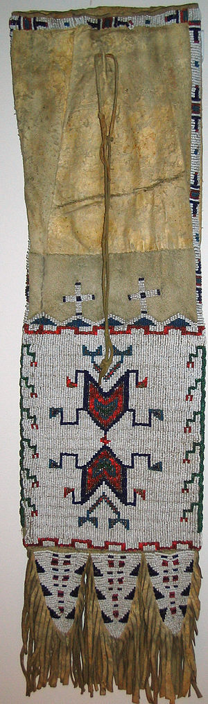 Pipe bag - Northern Plains Beaded Pipe Bag ca.1870s