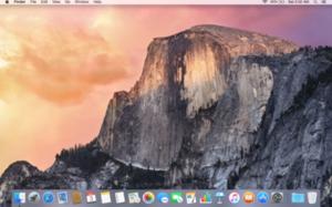 OS X Yosemite - Image: OS X Yosemite Desktop