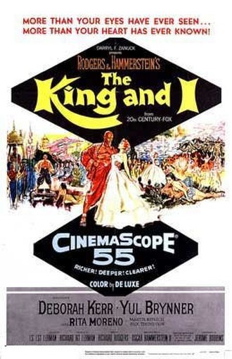 The King and I (1956 film) - Theatrical release poster by Tom Chantrell