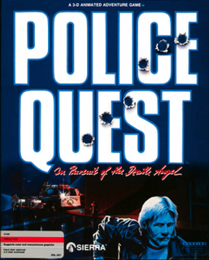 Police Quest: In Pursuit of the Death Angel - Cover art for the 1987 version