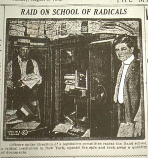 Rand School of Social Science - The Lusk Committee raided the Rand School in the summer of 1919 and seized documents to fuel its investigations.