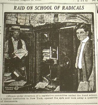 Esther Shemitz - Lusk Committee raids Rand School summer 1919, while Shemitz was a student there
