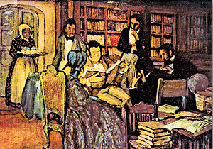 Argentine literature - The salon of the 1837 generation.
