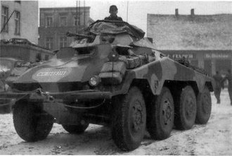 SdKfz 234 - Wartime view of a Sd.Kfz. 234/1