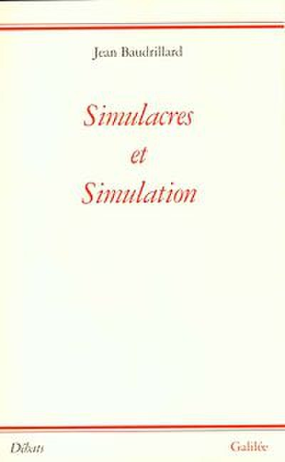Picture of a book: Simulacra And Simulation