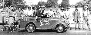 Bill Holman (cartoonist) - In 1941, Bill Holman gave his blessing to the Order of Smokey Stover, a social club created by the Redmond Volunteer Firefighters Association in Redmond, Washington. The club participated  in various Redmond events, such as the 1951 parade seen here.