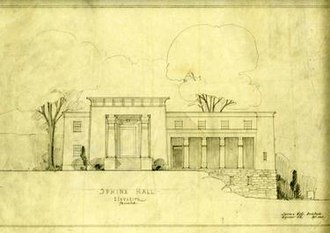 Sphinx (senior society) - 1923 proposed addition to Sphinx Hall
