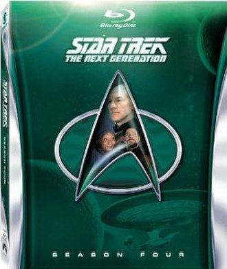 Star Trek: The Next Generation (season 4) - Region A/1 Blu-ray cover art