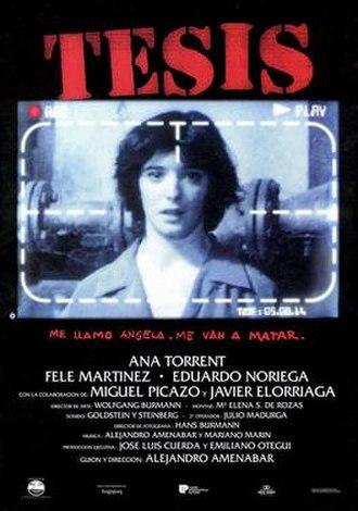 Tesis - DVD cover