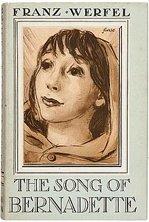 <i>The Song of Bernadette</i> (novel) 1942 novel by Franz Werfel