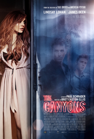 The Canyons (film) - Theatrical release poster