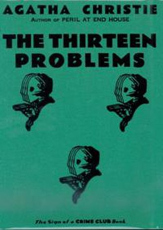 The Thirteen Problems - Dust-jacket illustration of the first UK edition