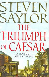 <i>The Triumph of Caesar</i> book by Steven Saylor